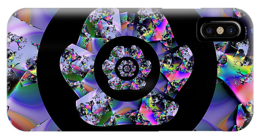 Fractal IPhone X Case featuring the digital art Brink Of Chaos by Vicky Brago-Mitchell