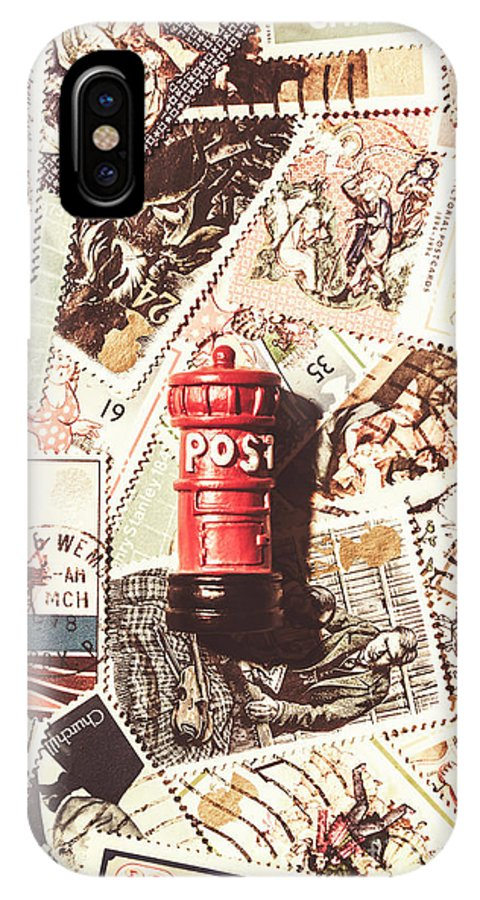 England IPhone X Case featuring the photograph British Post Box by Jorgo Photography - Wall Art Gallery