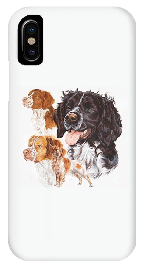 Sporting Group IPhone X / XS Case featuring the mixed media Brittany Spaniel by Barbara Keith