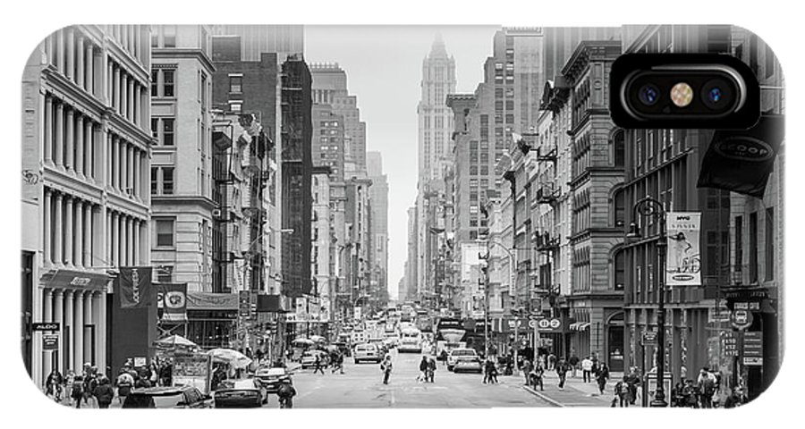 Broadway IPhone X Case featuring the photograph Broadway Chill by Az Jackson
