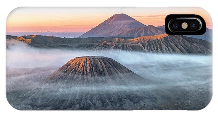 Bromo Tengger Semeru National Park IPhone X Case featuring the photograph bromo tengger semeru national park - Java by Joana Kruse