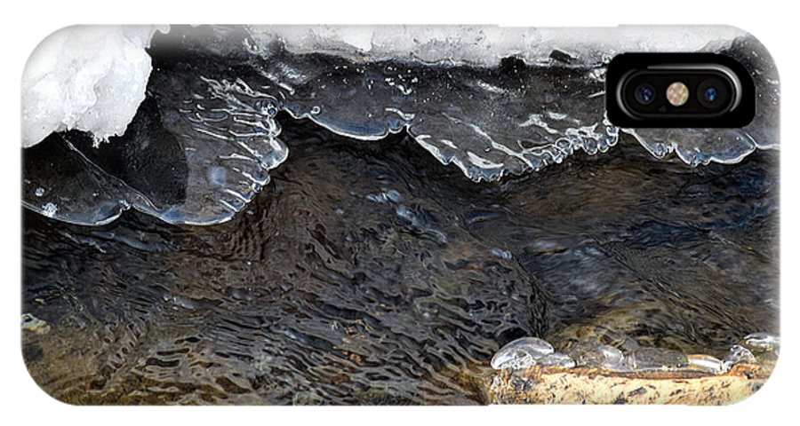 Macro IPhone X Case featuring the photograph Brook Ice Macro by William Tasker