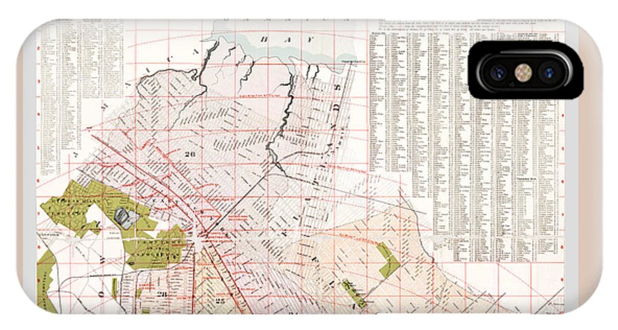 Brooklyn Map IPhone X / XS Case featuring the photograph Brooklyn 1893 Map by Rospotte Photography