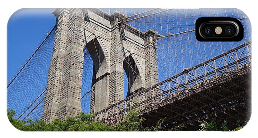 Brooklyn Bridge IPhone X Case featuring the photograph Brooklyn Bridge by Rauno Joks