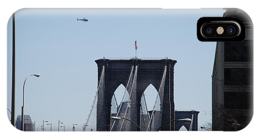 Architecture IPhone Case featuring the photograph Brooklyn Bridge by Rob Hans