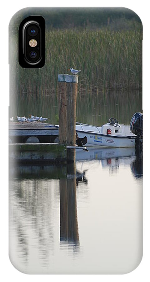 Water IPhone X Case featuring the photograph Broward Boat by Rob Hans
