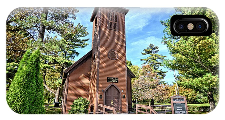 Little Brown Church IPhone X Case featuring the photograph Brown Church Autumn 2 by Bonfire Photography