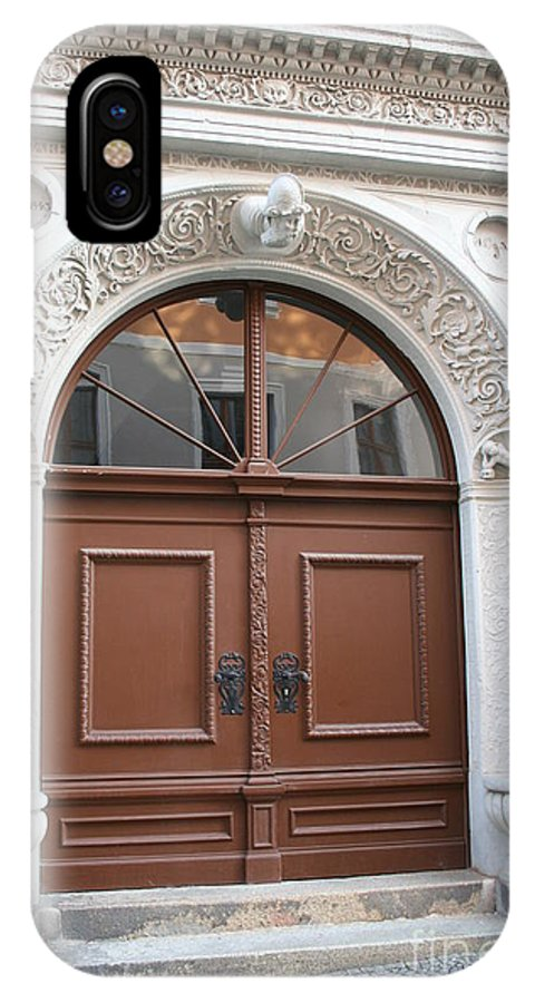 Door IPhone X / XS Case featuring the photograph Brown Door by Christiane Schulze Art And Photography