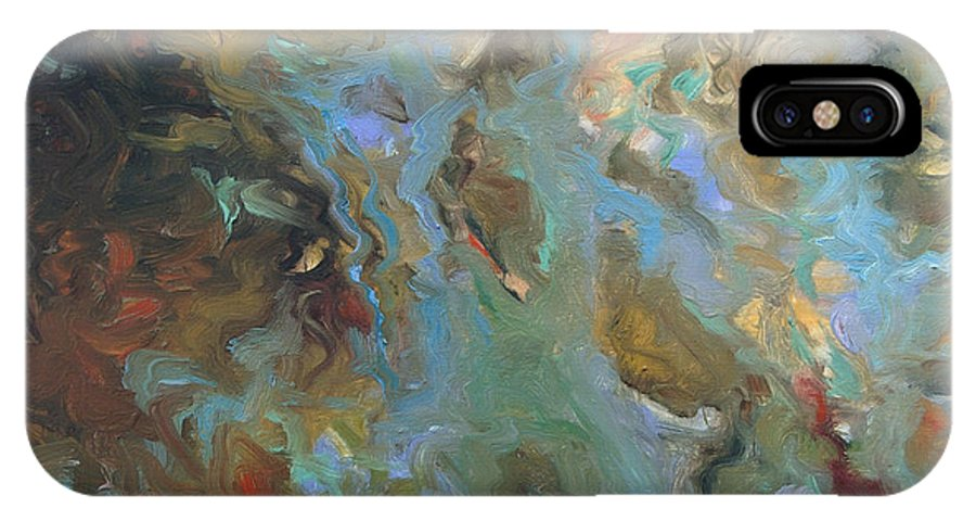Water IPhone Case featuring the painting Brown by Rick Nederlof