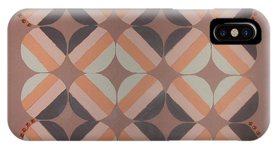 Brown IPhone Case featuring the painting Brownstone by Gay Dallek