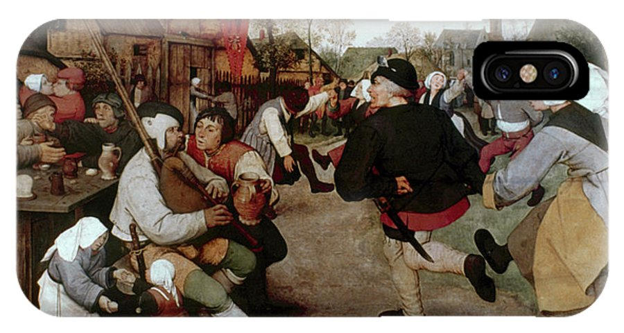 1567 IPhone X Case featuring the painting Bruegel, Peasant Dance by Granger