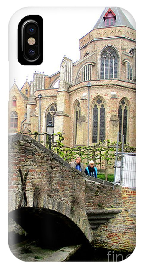 Bruges IPhone X Case featuring the photograph Bruges Bridge 3 by Randall Weidner