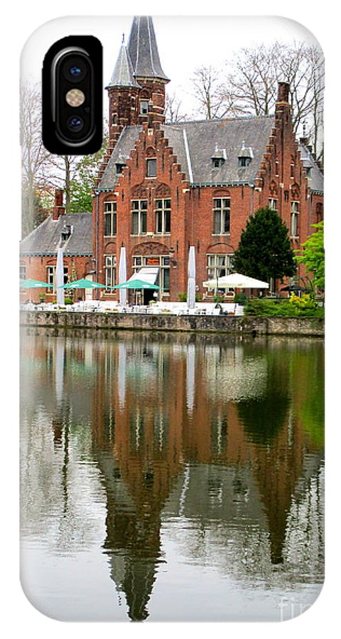 Bruges IPhone X Case featuring the photograph Bruges Kasteel Minnewater by Randall Weidner
