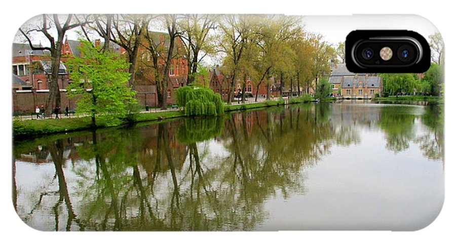 Bruges IPhone X Case featuring the photograph Bruges Minnewater 1 by Randall Weidner