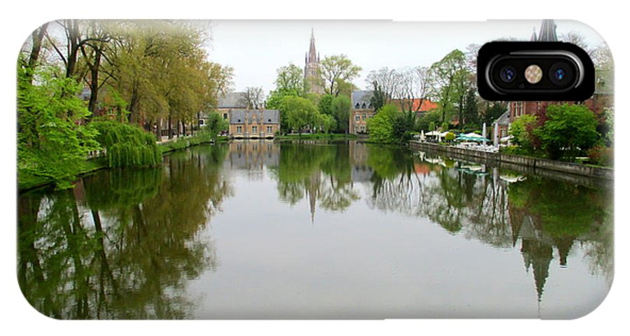 Bruges IPhone X Case featuring the photograph Bruges Minnewater 2 by Randall Weidner