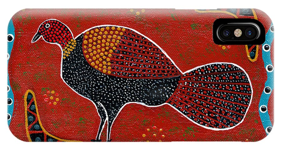 Brushturkey IPhone X Case featuring the painting Brush Turkey by Clifford Madsen