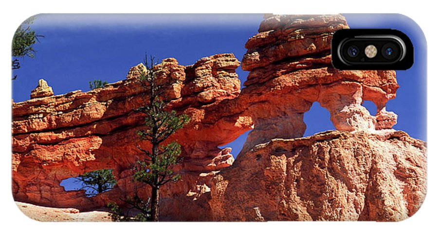 Red Rock Formations IPhone X Case featuring the photograph Bryce Canyon National Park by Sally Weigand