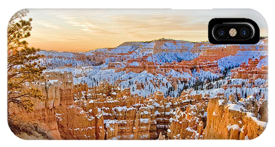 West IPhone X Case featuring the photograph Bryce Canyon Sunset by Ches Black