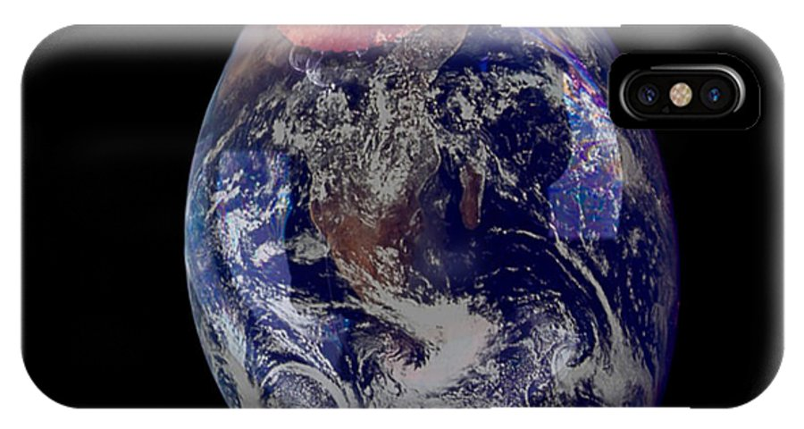 Earth IPhone X Case featuring the photograph Bubble Earth by Jim DeLillo