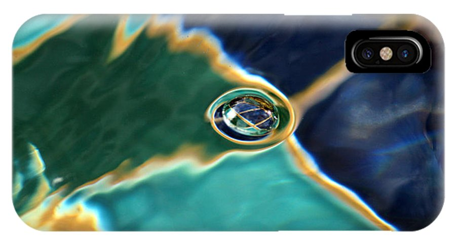 Abstract IPhone X Case featuring the photograph Bubble In The Fountain by James Eddy