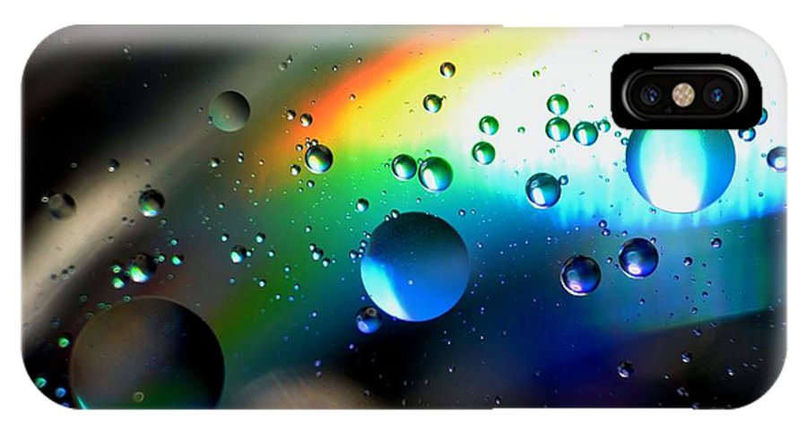 Bubbles Abstract IPhone X Case featuring the photograph Bubbles Abstract by Sandeep Kumar Dogra