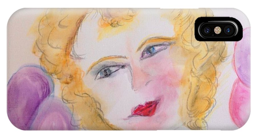 Bubbles IPhone X Case featuring the painting Bubbles At Her Party by Judith Desrosiers