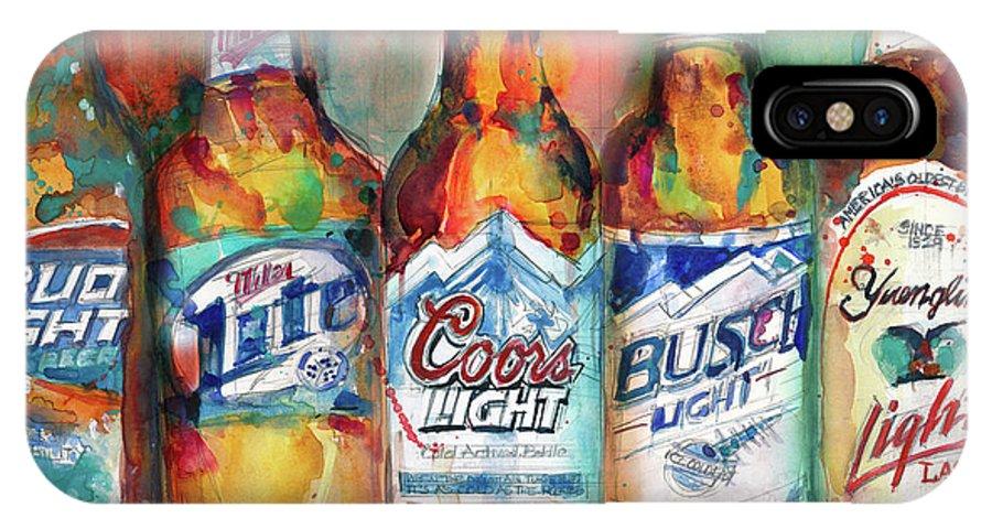 Art U0026 Collectibles IPhone X Case Featuring The Painting Bud Light Miller Lite  Coors Light Busch