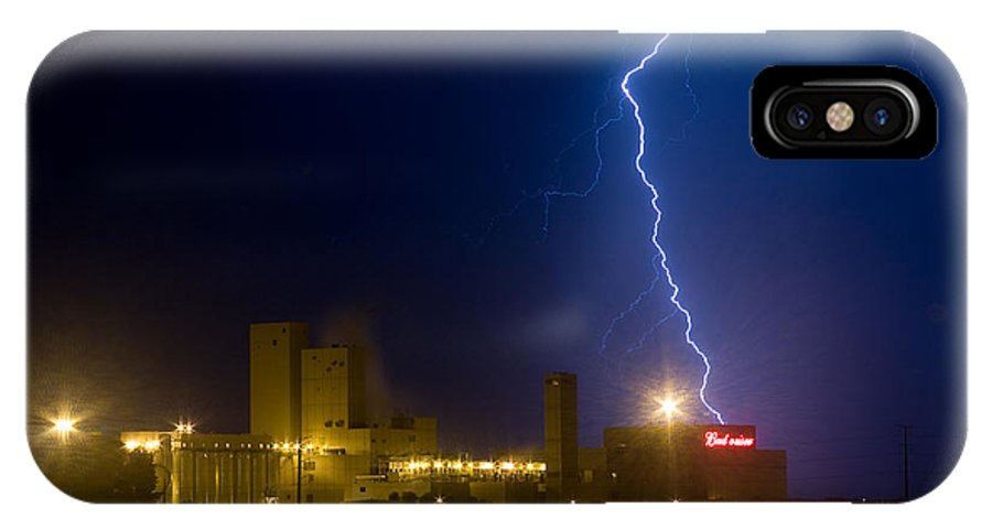 Lightning IPhone X Case featuring the photograph Bud Light Ning by James BO Insogna