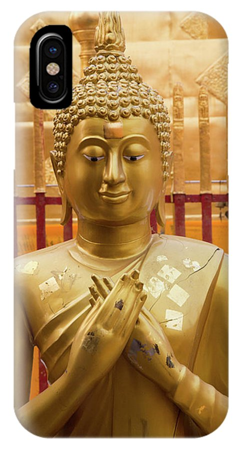 Asia IPhone X Case featuring the photograph Buddha Statue by Emily M Wilson
