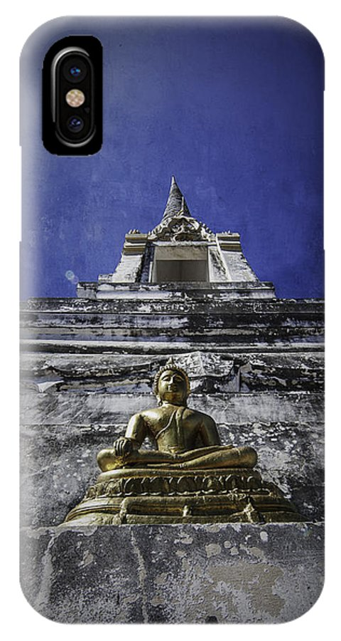 Buddha IPhone X Case featuring the photograph Buddha Watching Over by Dylan Newstead