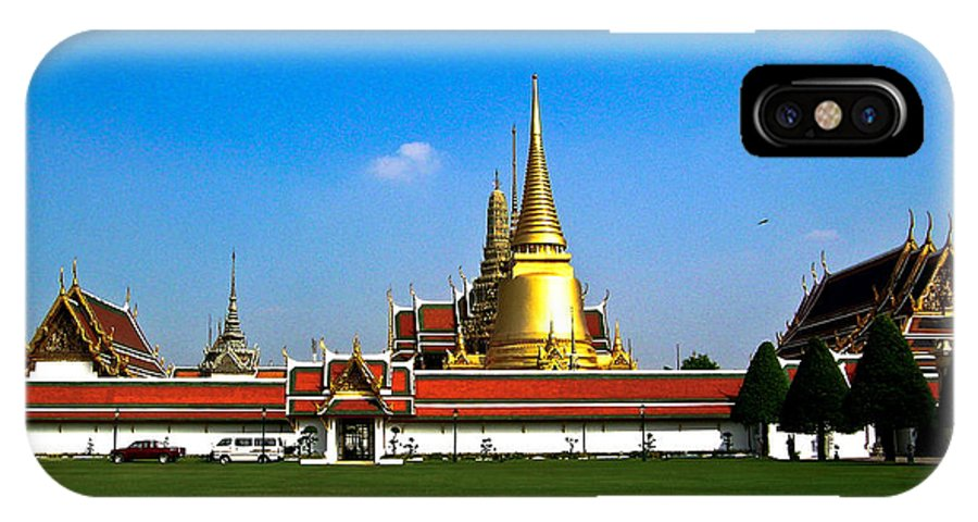 Buddha IPhone X Case featuring the photograph Buddhaist Temple by Douglas Barnett