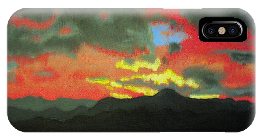 Sunset IPhone X Case featuring the painting Buenas Noches by Marco Morales