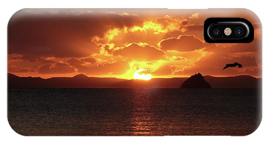 Sunset IPhone X Case featuring the photograph Buenos Noches by Robbie Gabriel