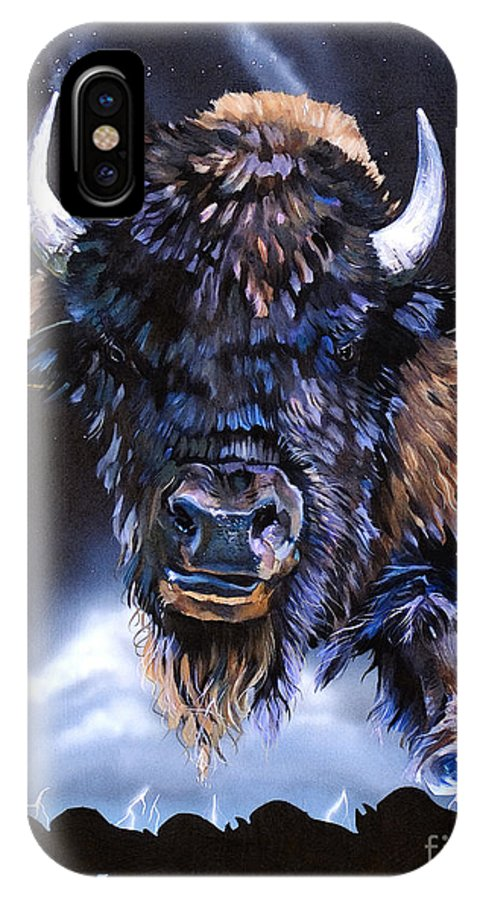 Buffalo IPhone Case featuring the painting Buffalo Medicine by J W Baker