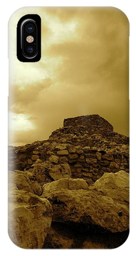 Spider IPhone X / XS Case featuring the photograph Bug On The Ruins by Elizabeth Jeffries