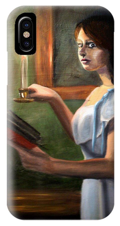 Night IPhone X Case featuring the painting Bump In The Night by Maryn Crawford