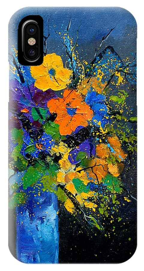 Poppies IPhone Case featuring the painting Bunch 1007 by Pol Ledent