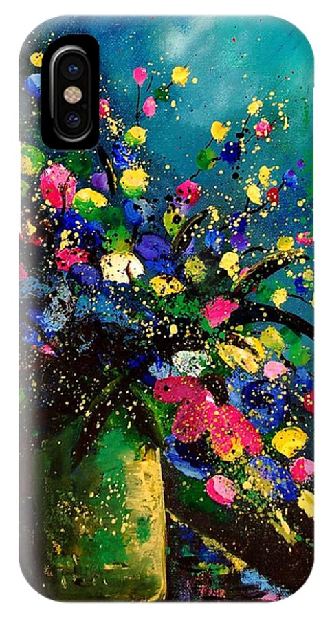 Poppies IPhone X Case featuring the painting Bunch 45 by Pol Ledent
