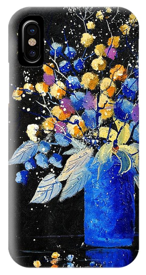 Flowers IPhone X Case featuring the painting Bunch 451008 by Pol Ledent