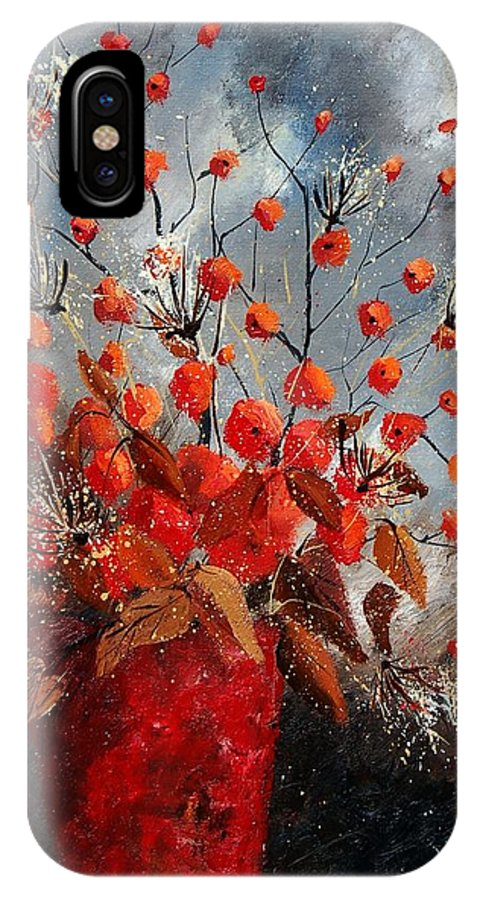 Flowers IPhone X Case featuring the painting Bunch 560608 by Pol Ledent