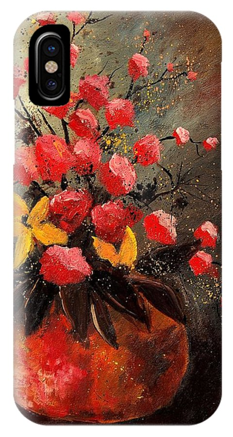 Flowers IPhone X Case featuring the painting Bunch 569060 by Pol Ledent