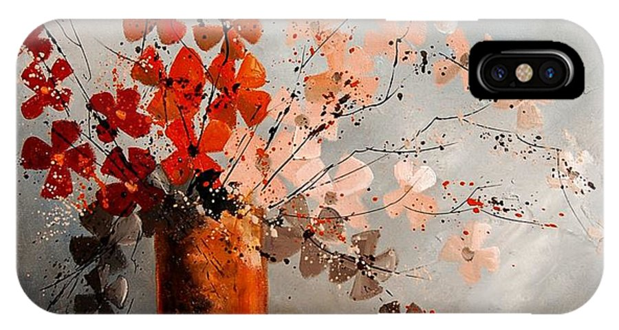 Flowers IPhone X Case featuring the painting Bunch 670908 by Pol Ledent