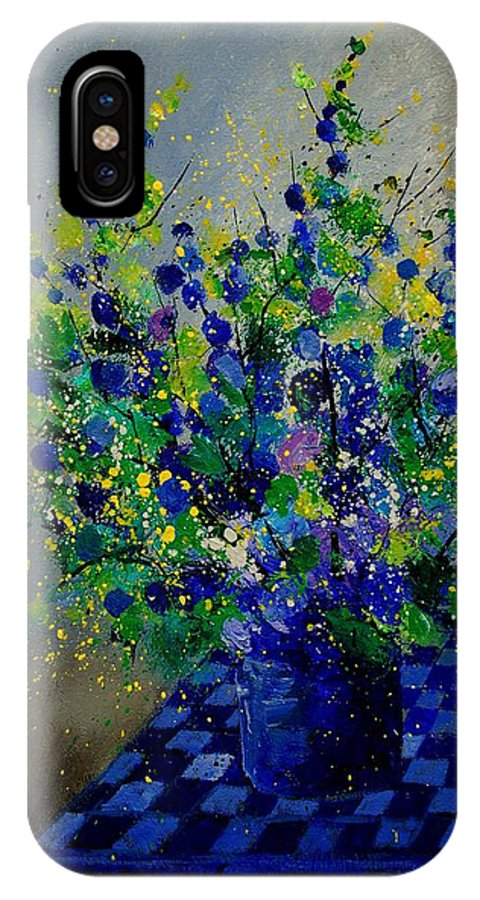 Flowers IPhone X Case featuring the painting Bunch 9020 by Pol Ledent