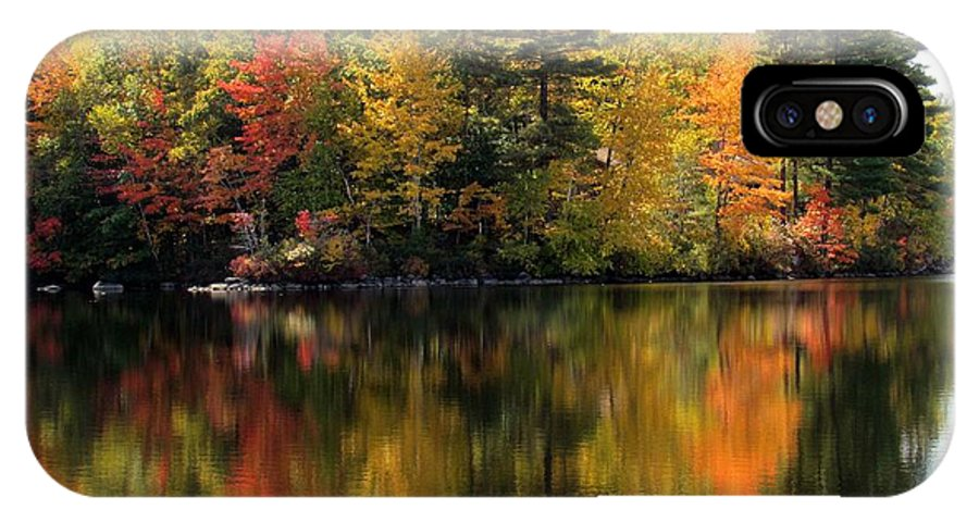 Lynne Miller IPhone X Case featuring the photograph Bunganut Lake Maine Foliage 10 2016 by Lynne Miller
