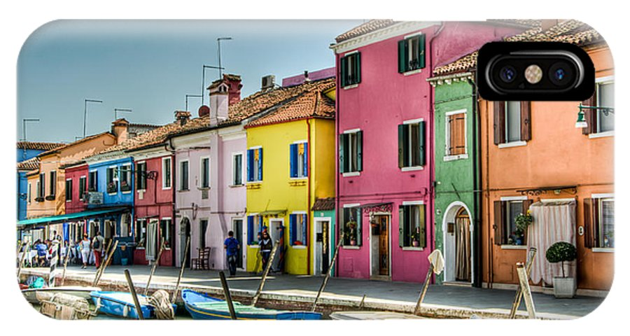 Burano IPhone X Case featuring the photograph Burano Canal by Jon Berghoff