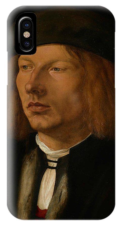 Albrecht Durer IPhone X Case featuring the painting Burkhard Of Speyer by Albrecht Durer