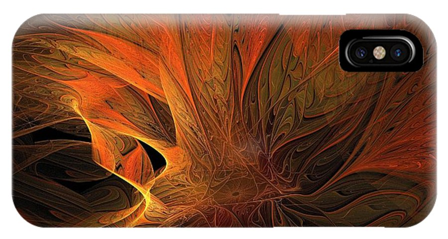 Digital Art IPhone X Case featuring the digital art Burn by Amanda Moore