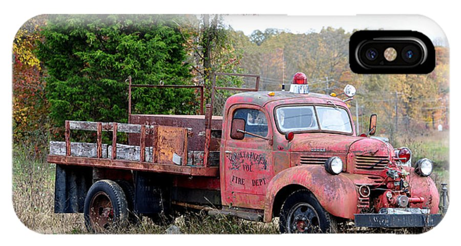 Trucks IPhone X Case featuring the photograph Burned Out by Jan Amiss Photography