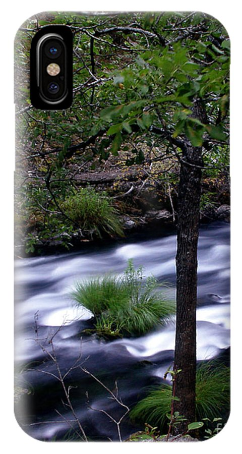 River IPhone X Case featuring the photograph Burney Creek by Peter Piatt