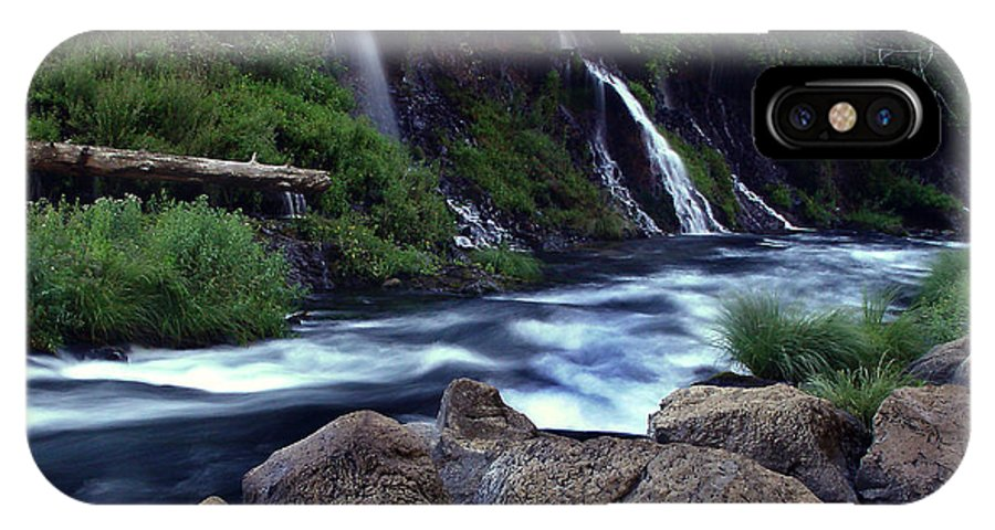 River IPhone X Case featuring the photograph Burney Falls Creek by Peter Piatt